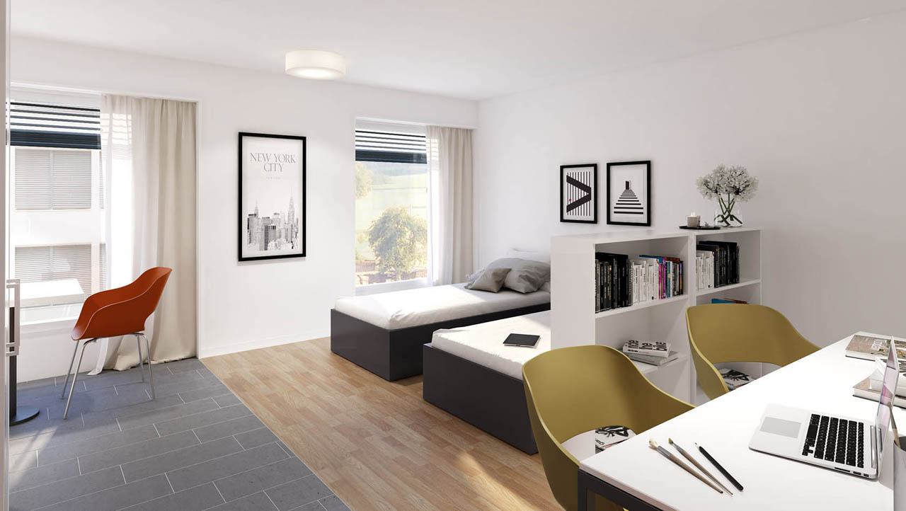 Students Place 4U ,Crissier : Furnished Medium studio